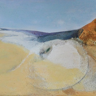 kath-wallace-covehithe-beach-eastcoast-2016-oil-and-mixed-media-on-canvas-20x65cm