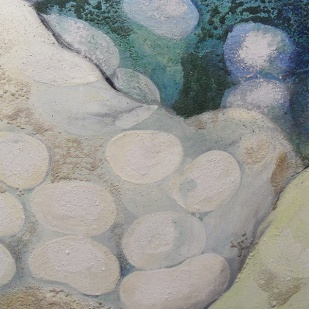 kath-wallace-pebbles-sand-and-sea-oils-and-mixed-media-on-canvas-2016-40x60cm