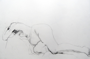 reclining-model-2013-pencil-and-pastel-on-paper25x45cm