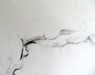 reclining-model-2013-pencil-and-pastel-on-paper50x70cm