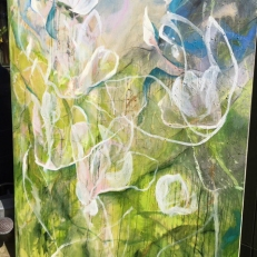 katharine-wallace-magnolia-painting-outdoors-garden-with-watering-can-for-scale