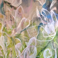 katharine-wallace-work-in-progress-magnolia-painting-6x4ft-canvas