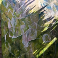 katharine-wallace-working-outside-on-the-magnolia-painting