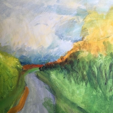 katharine-wallace-walking-the-low-road-acrylics-and-charcoal-on-deep-canvas-painting-2020