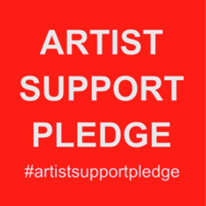 artist support pledge on Instagram