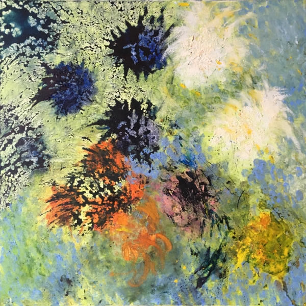 kath-wallace-agapanthus-and-marigolds-painting
