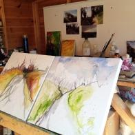 studio-two-landscape-paintings-in-progress