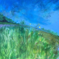 kath-wallace-summer-sky-over-the-common-painting